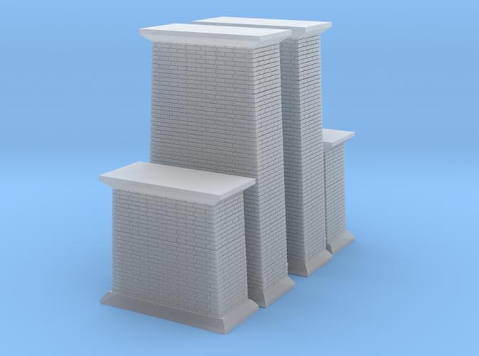 Brick Bridge Abutments z scale