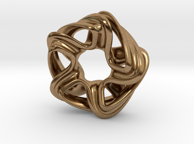pendant necklace in raw brass