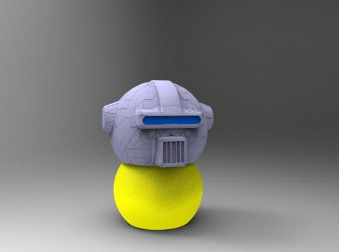 Render of Helmet on Keepon