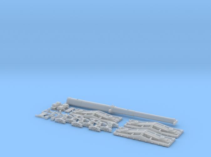 Naval Gun & F22 Flatcars - FUD Render