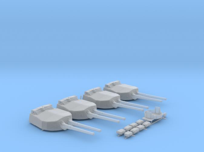 """1/192 HMS Hood 15"""" Mark II Turrets 1941 B. Bags"""