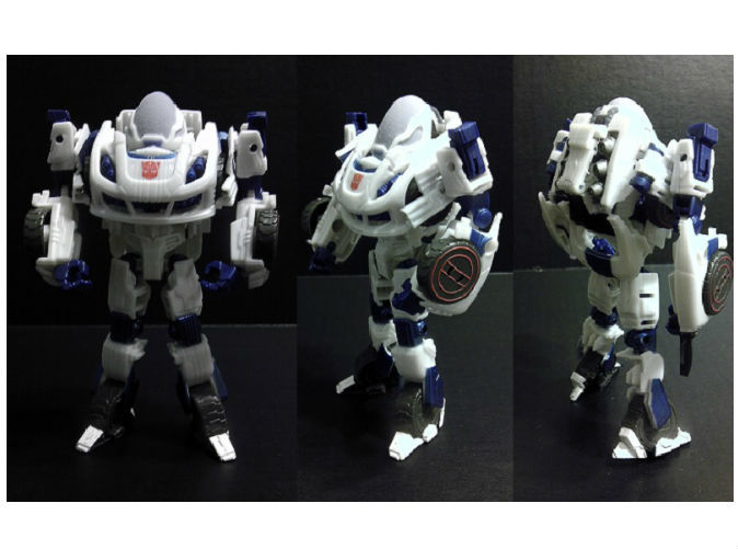Full Color Sandston Dome on TF Deluxe FOC Jazz (Robot Mode)