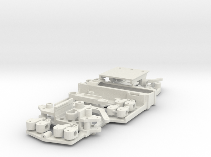 Pieces connected by sprue in White Natural Versatile Plastic.