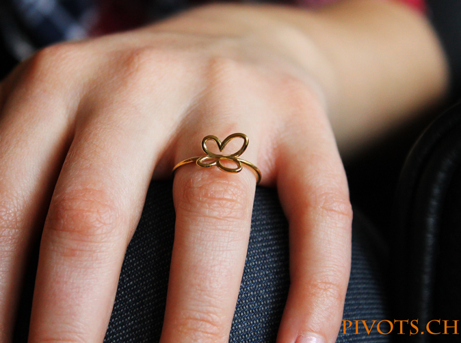 Model wearing the Butterfly ring