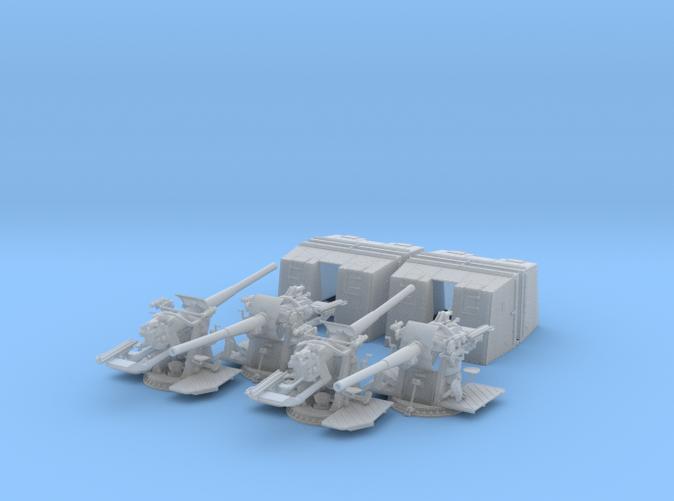 "1/72 4.7""/45 QF MK IX CPXVII Guns Hollow Barrel x4"