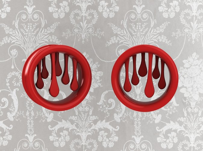 Order in Red polished plastic or enamel I metal with red or GREEN for slime!