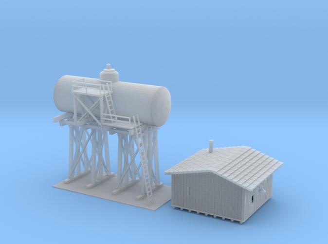 Diesel tank track side Z scale