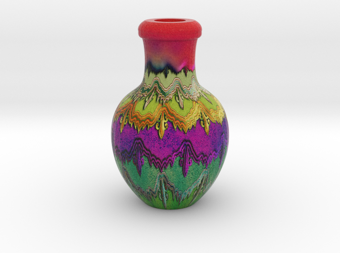 little vase with texture