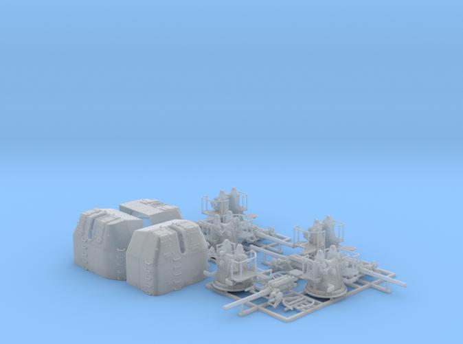 "1/144 RN 4"" MKV P Class Guns Closed Ports x5"