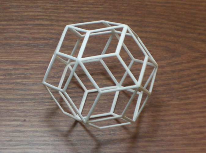 30 sided polyhedron with rhombic faces