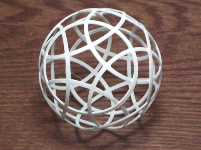 12 strip sphere, parallel to dodecahedron faces
