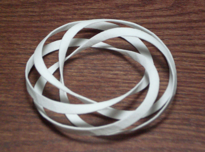 torus with a single spiral wrapping 4 times