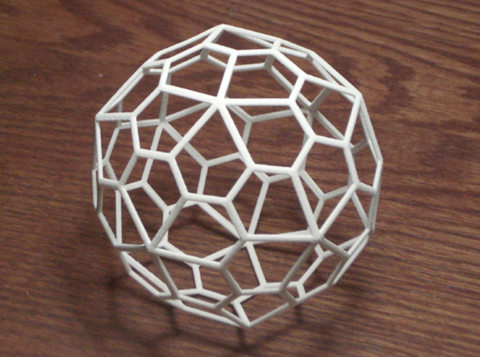 "60 sided polyhedron - photo is of a 3"" diameter one"