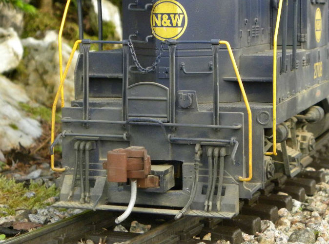 Blanking plate used on 1:29 GP18 model, made from a USA Trains GP7 shell.(Note: rivets are from Titchy Train Group)