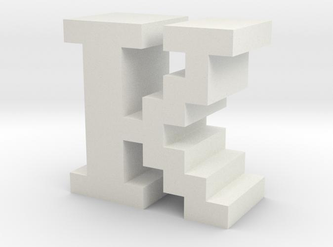 """K"" inch size NES style pixel art font block"