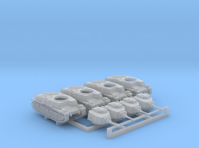1/285 SARL 42 Tank FCM 3 Man Turret 47mm SA37 x4