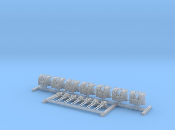 """1/700 HMS Hood 4""""/45 (10.2 cm) QF Mark XVI Guns x7"""