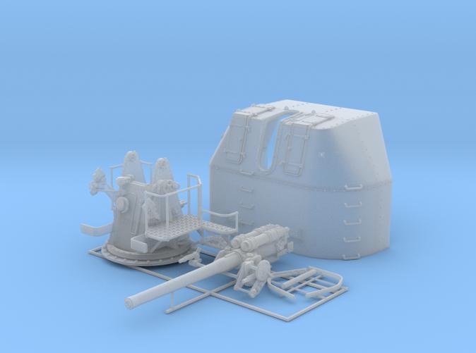"1/48 RN 4"" MKV P Class Gun B Mount Closed Ports"