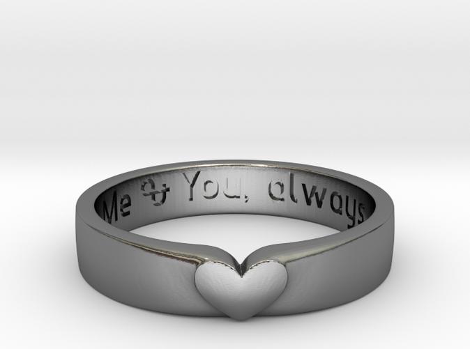 Custom Engraved Heart Band Ring