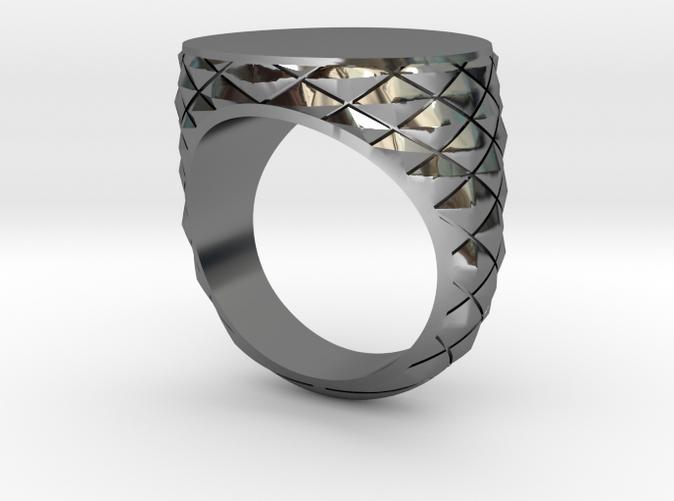 Geometric Signet Ring
