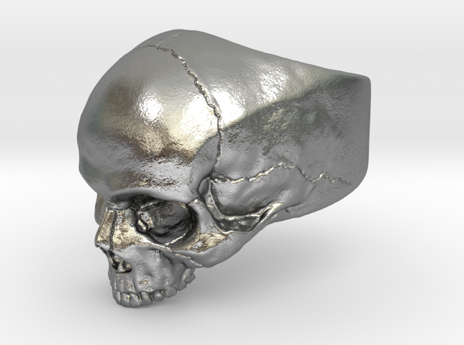 silver skull ring preview