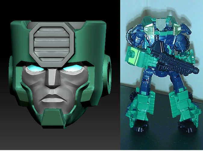Ironside head printed in Frosted Ultra Detail on TF Prime Kup body