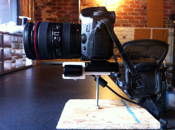 Mounted to a DSLR
