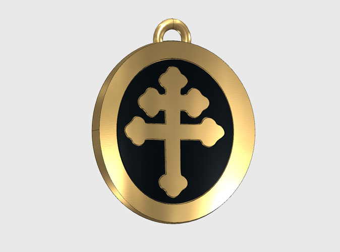 Pendant Team Ring, with black enamel -customer postproduction-, render.