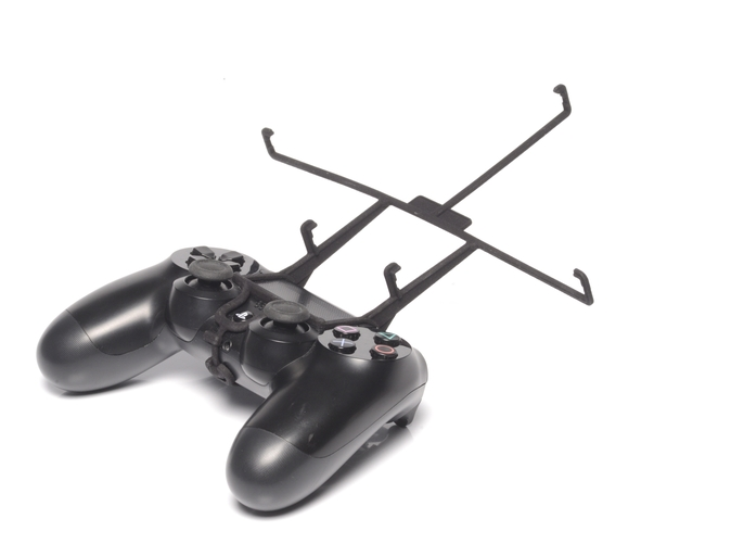 Without phone - A Nexus 7 and a black PS4 controller