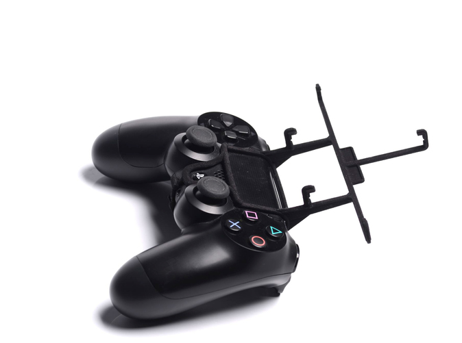 Without phone - A Samsung Galaxy S3 and a black PS4 controller