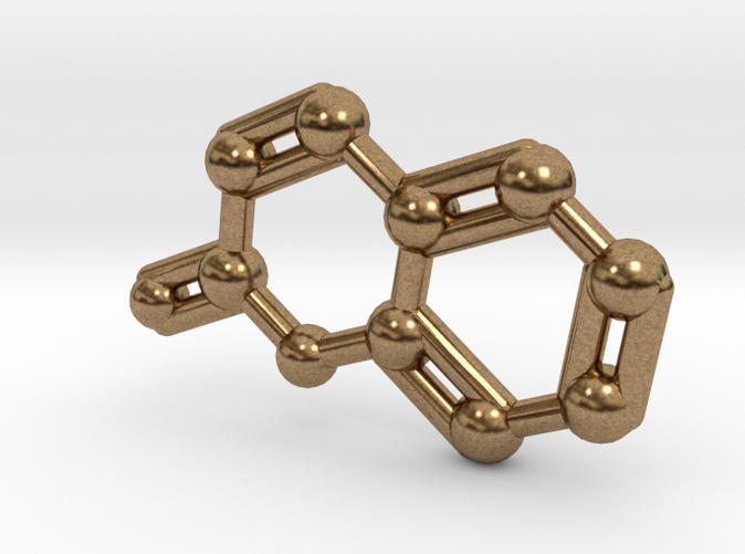 Coumarin Molecule Keychain Pendant