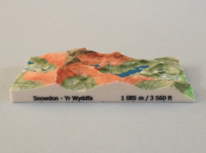 Photo of Snowdon - Relief model