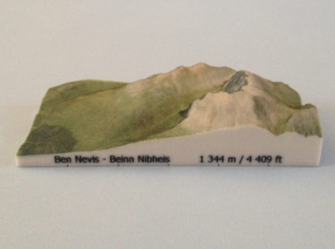 Photo of Ben Nevis - Photo model (note: new height of Ben Nevis of 1 345 m is now printed on the model)