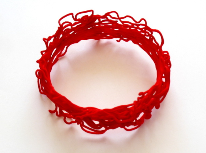 This bangle is printed in red strong & flexible polished. It is on display at the Oz gallery in Thornton, CO!