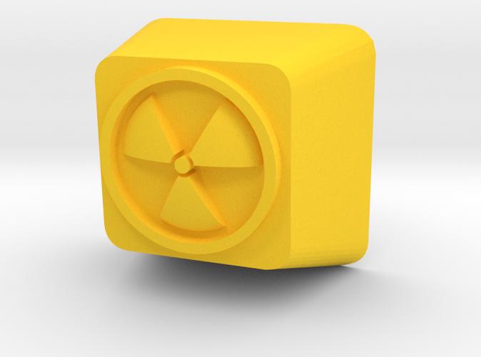 CustomCherry MX Keycap with 3D Radioactive symbol