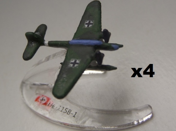 Comes unpainted without stands.  Set of 4 planes.