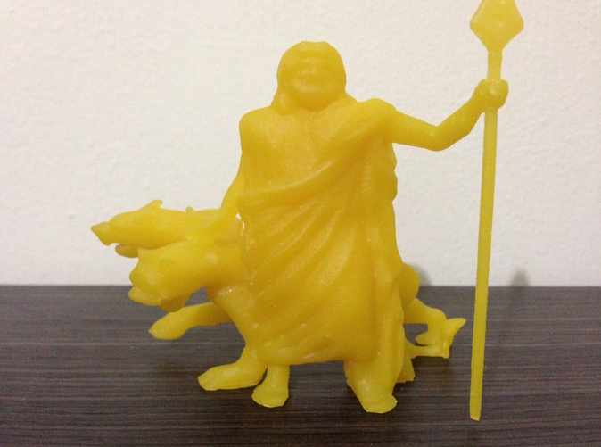 I printed it with yellow resin with my dlp printer