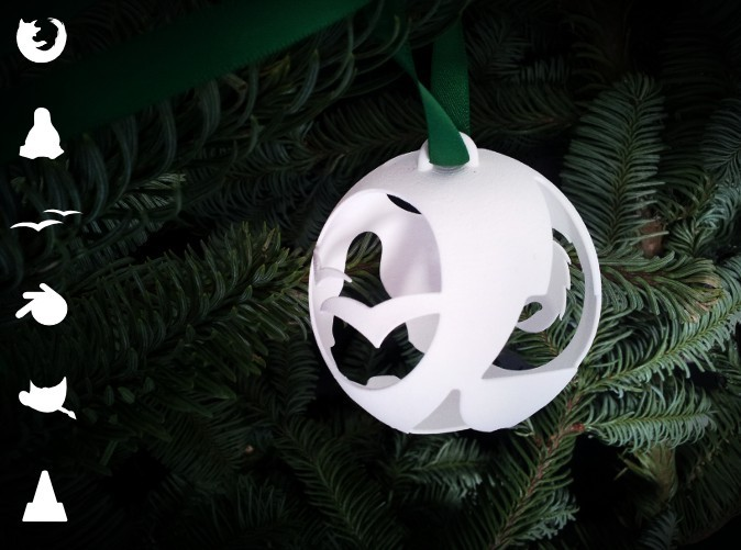 Open Source Christmas Ornament in a Christmas Tree