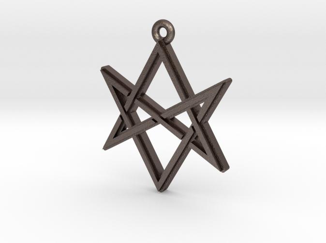 Unicursal hexagram pendant printed metal s82h7jjal by timlocke unicursal hexagram pendant printed metal mozeypictures Images