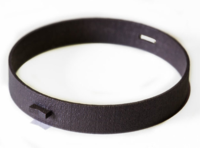 The Blackmetal Bracelet printed in Matte Black Steel.