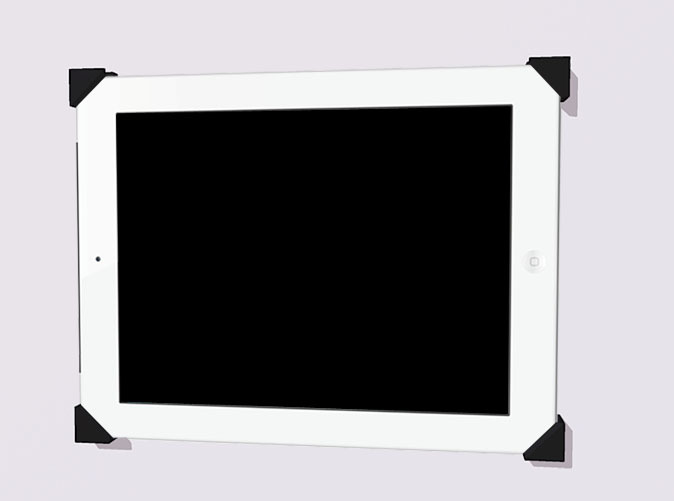 Rendering of the an iPad in the Mount