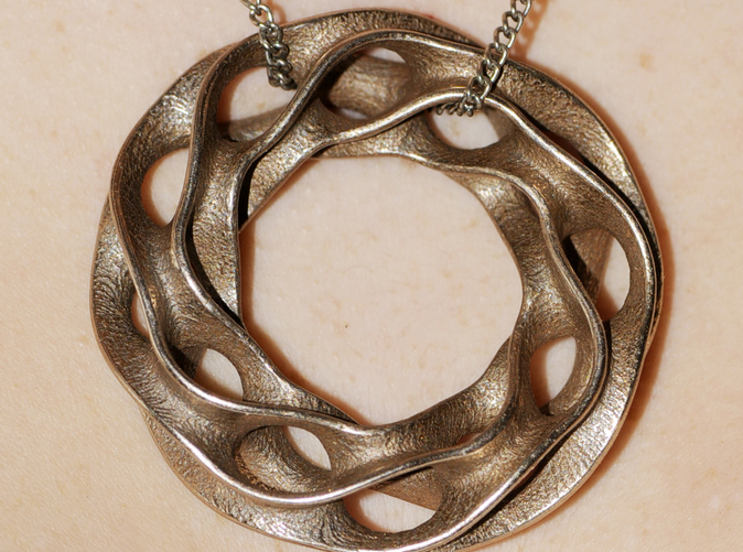stainless steel print as a necklace