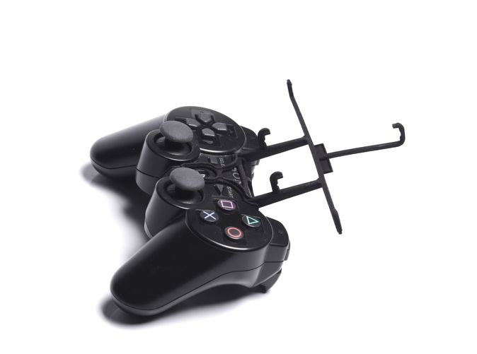 Without phone - A Samsung Galaxy S3 and a black PS3 controller