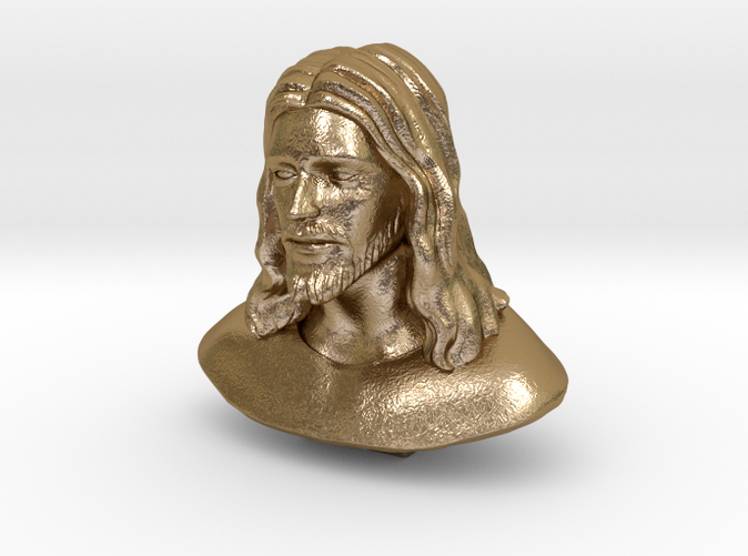 Jesus Christ -Polished Gold Steel