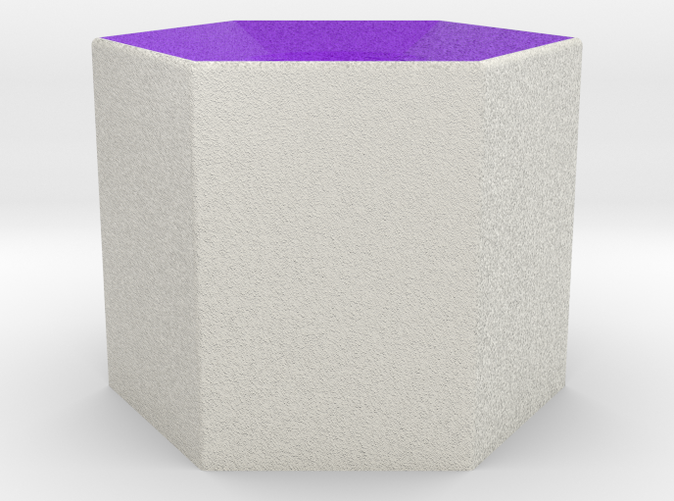 Shapeways render of Column Display Stand for WISDOM in Full Color Sandstone