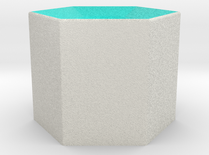 Shapeways render of Column Display Stand for HARMONY in Full Color Sandstone