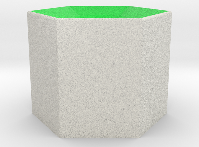 Shapeways render of Column Display Stand for PEACE in Full Color Sandstone