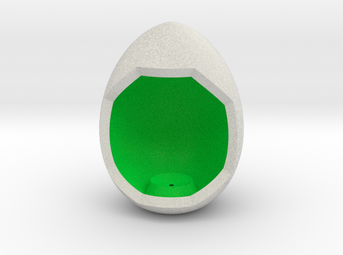 Shapeways Render of Egg Display Stands with PEACE amongst LuminOrb Series I and II