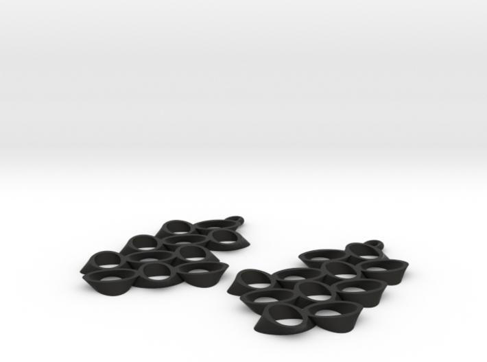 HYPERLOOP earrings, PAIR 3d printed