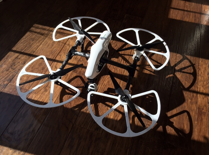 Inspire 1 Prop Guards: Left Front and Rear Right 3d printed
